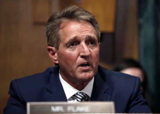 Jeff Flake will not vote for Kavanaugh until a full FBI investigation is authorized by the president